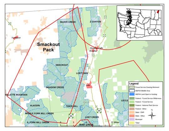 Range of the Smackout Pack in Washington.