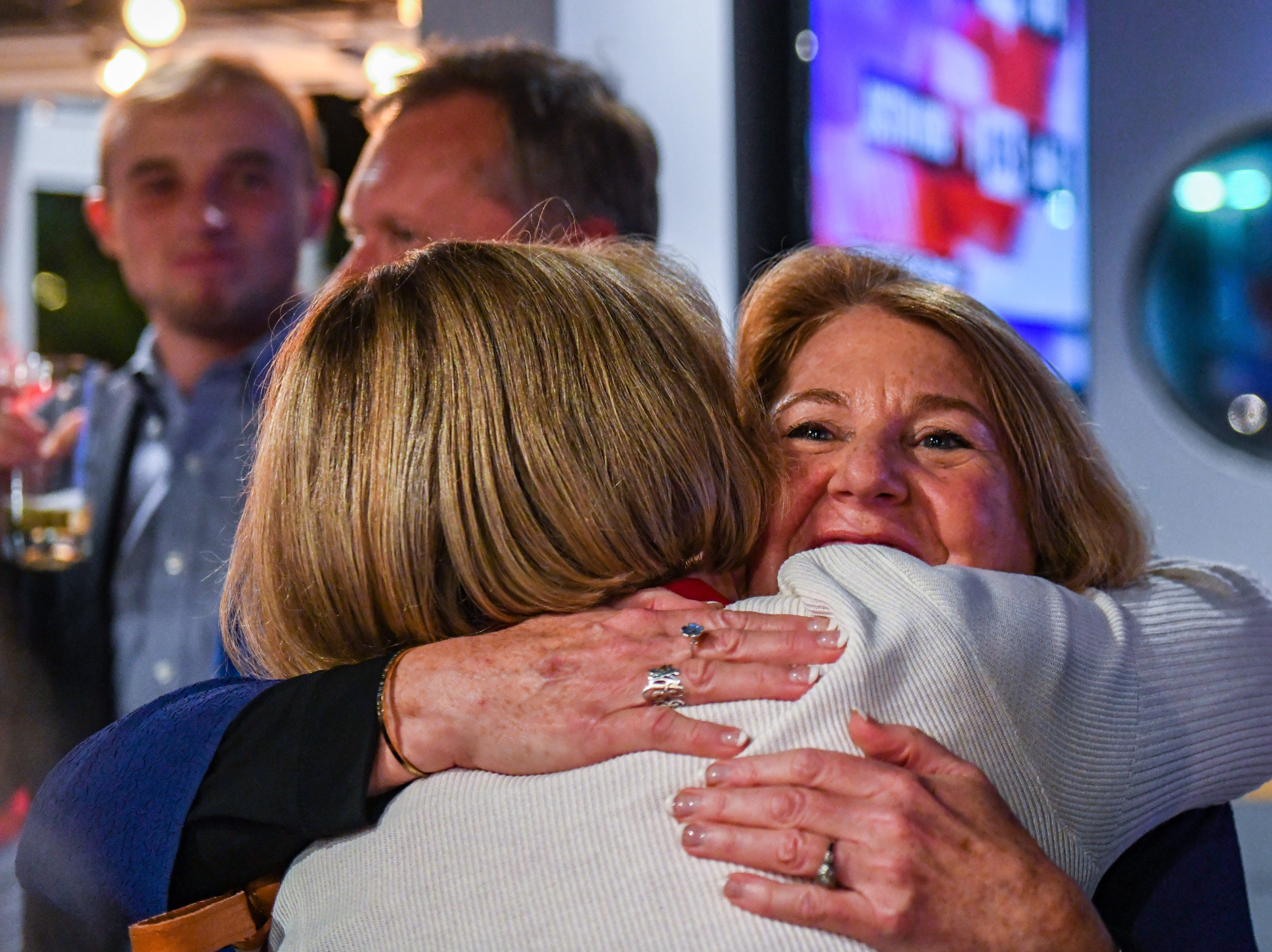 Republican Mary Beth Carozza greets supporters at her Ocean City watch party on Tuesday, Nov 6, 2018. Excitement grew throughout the night as Carozza was elected the new Maryland state senator in District 38, unseating incumbent Democrat Jim Mathias.