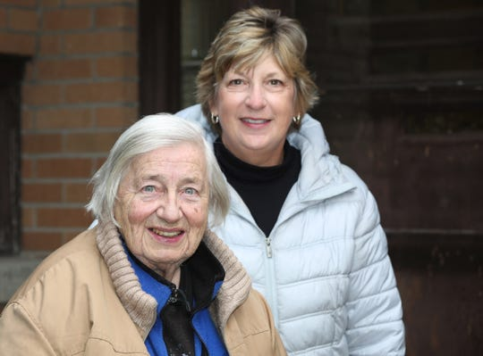 Barbara Braden, left, poses with Raeann Schroeder at the Braden home Oct. 30 in Sheboygan.