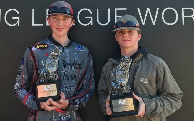 Haughton anglers Jace White and Cole Golden