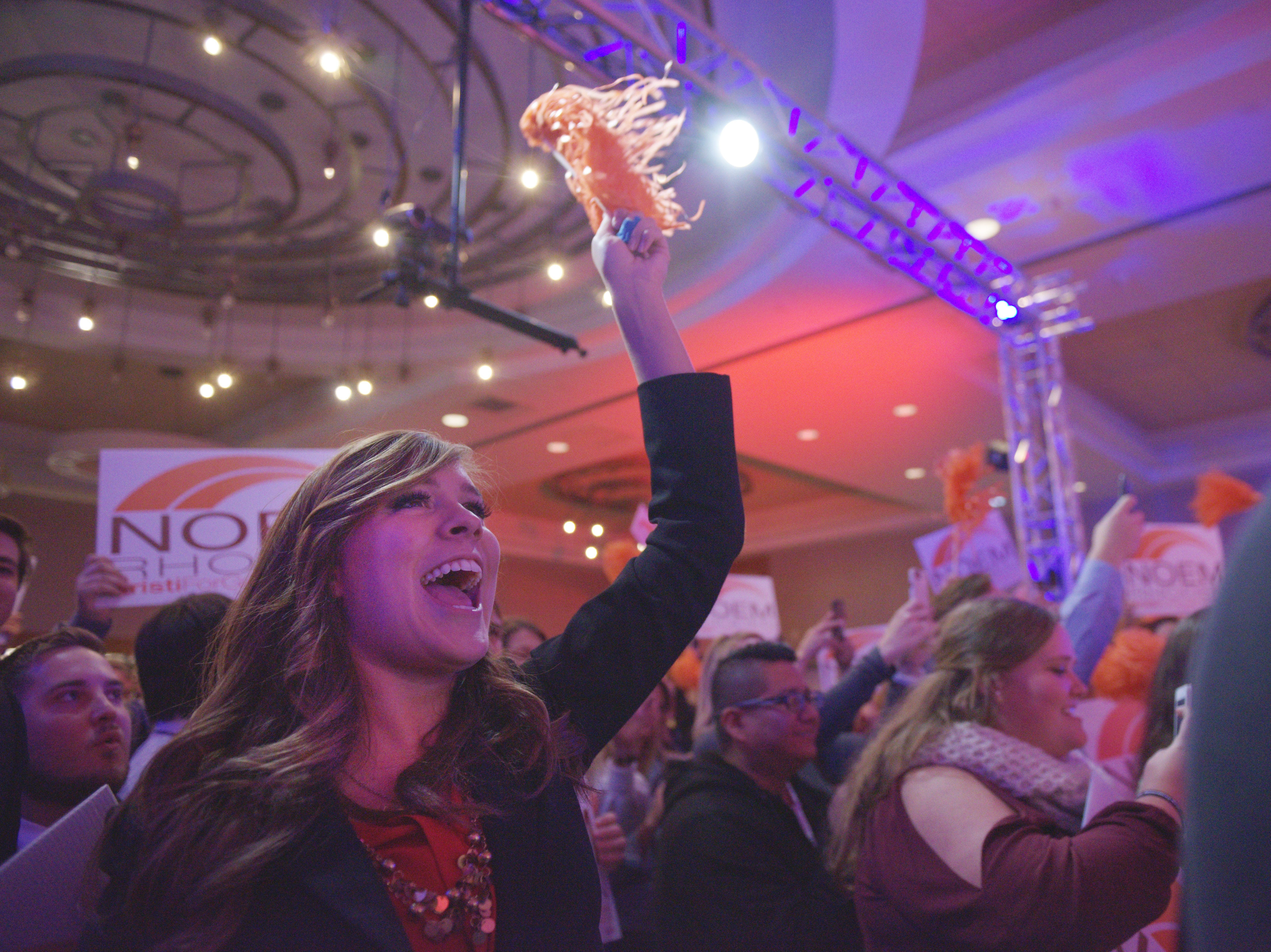 Kristi Noem address supporters while she makes her acceptance speech after being announced the new governor of South Dakota Tuesday, Nov. 6, at the Hilton Garden Inn in Sioux Falls. Noem mad history by being the first female governor of South Dakota.