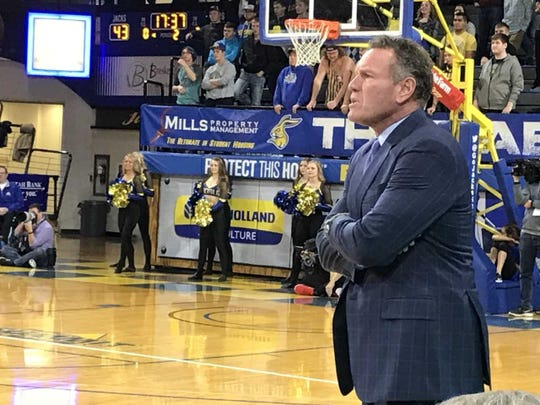 Grand Canyon coach Dan Majerle watches his team Tuesday at Frost Arena