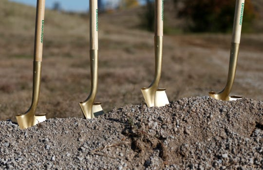 The City of Springfield and Ozark Greenways hosted a groundbreaking ceremony at the site of a new trail along the Jordan Creek in the West Meadows on Wednesday, Nov. 7, 2018.