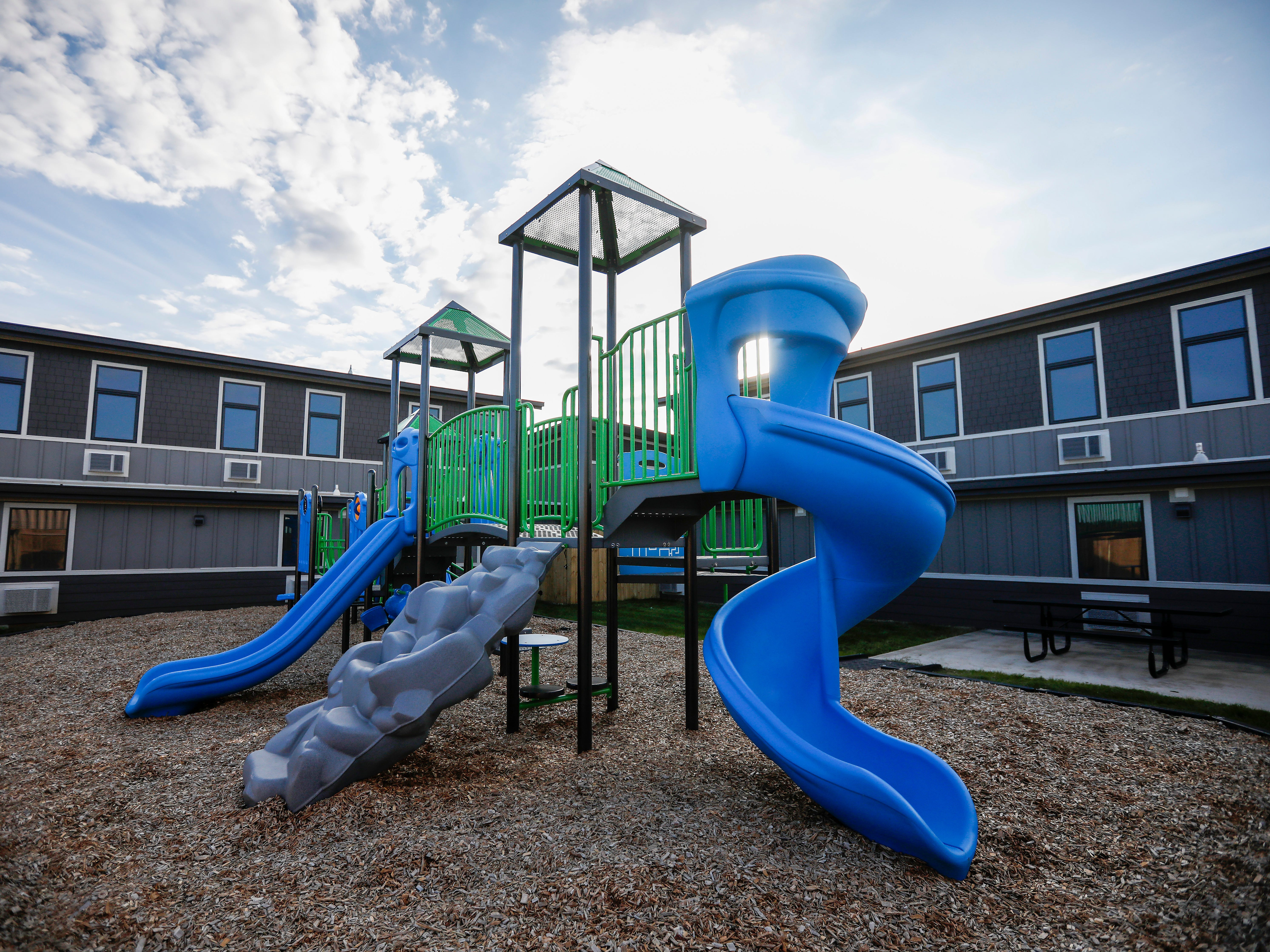 The playground at The Kitchen's new Emergency Shelter located at 1855 E. Chestnut Expressway.