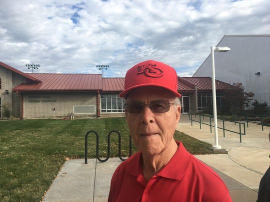 Dallas Johnson, 81, voted at Cooper Tennis Complex on Nov. 6, 2018.