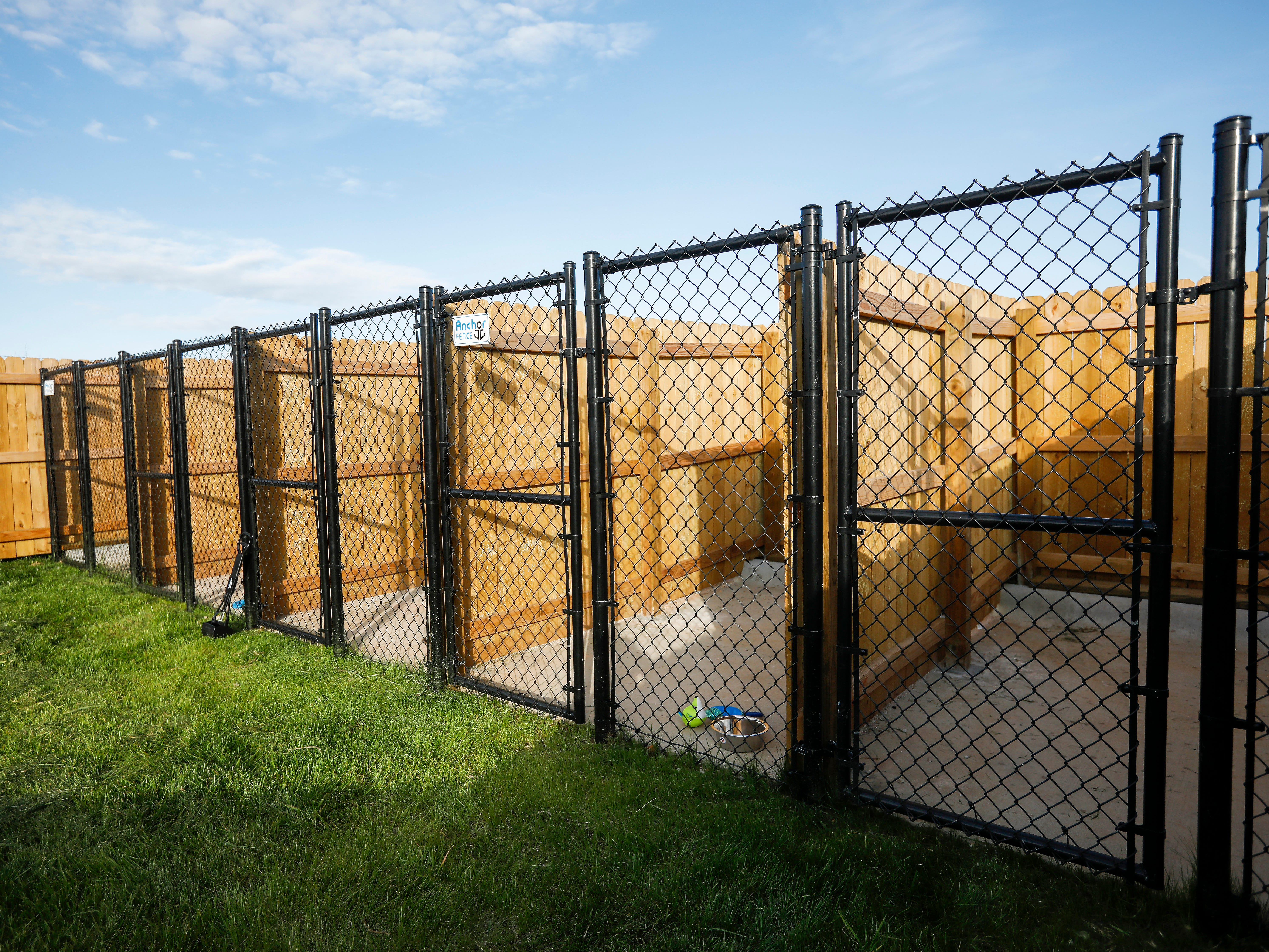 Dog kennels at The Kitchen's new Emergency Shelter located at 1855 E. Chestnut Expressway.