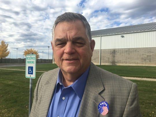 Brooks Miller, 62, voted at the Cooper Tennis Complex on Nov. 6, 2018.
