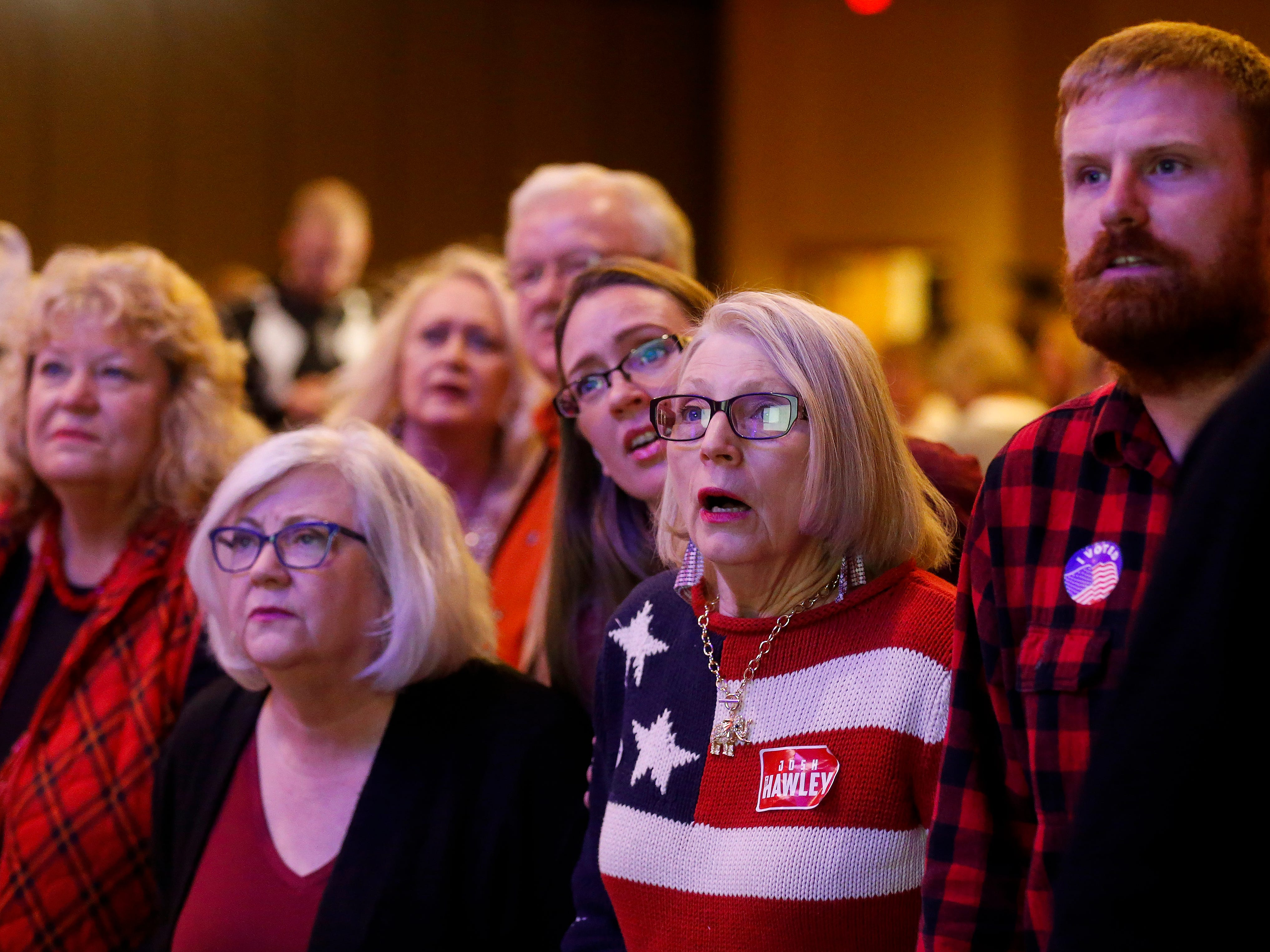 Scenes from the Greene County Republican's watch party at the University Plaza hotel on Tuesday, Nov. 6, 2018.