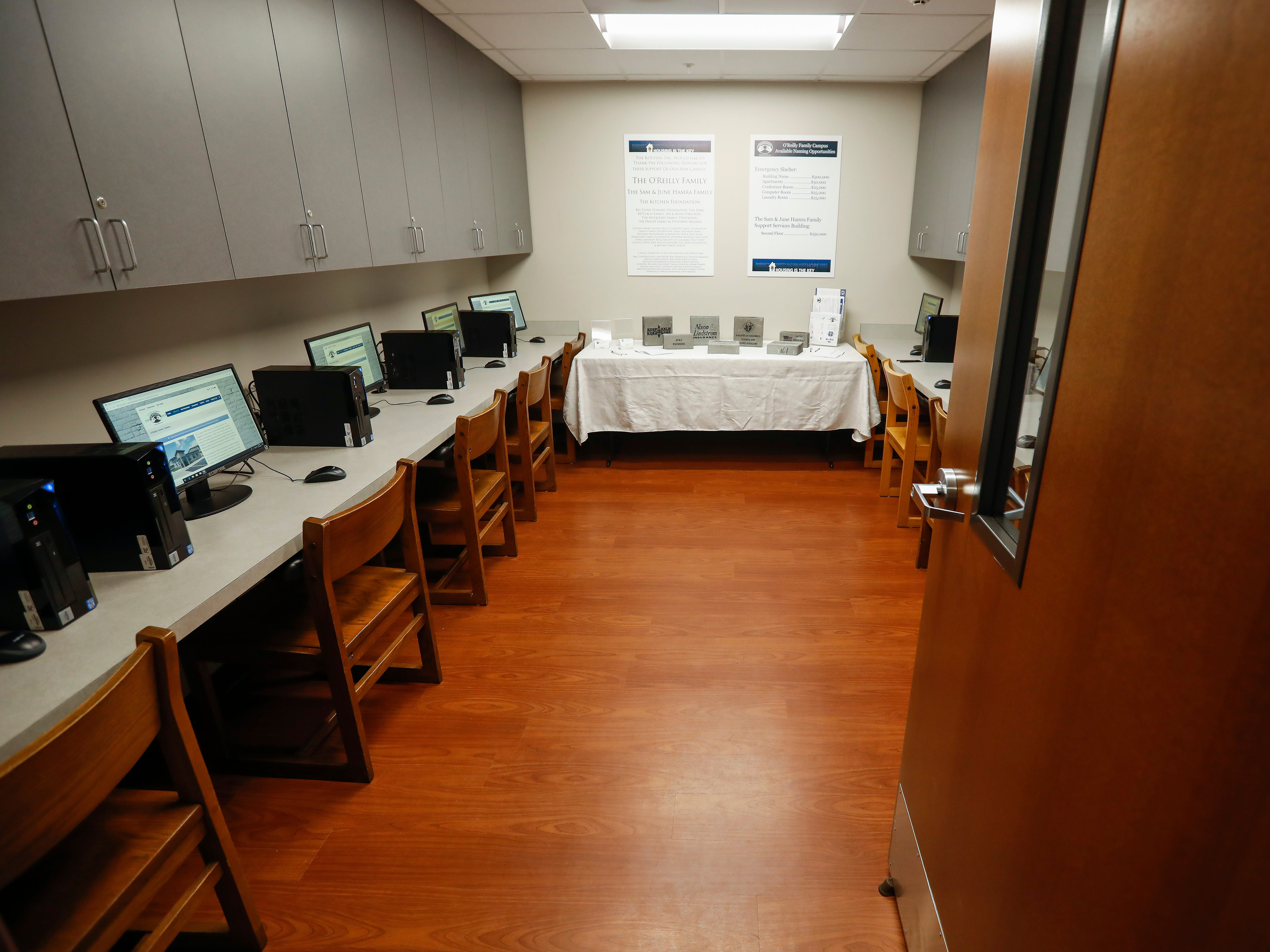 The computer lab inside of The Kitchen's new Emergency Shelter located at 1855 E. Chestnut Expressway.