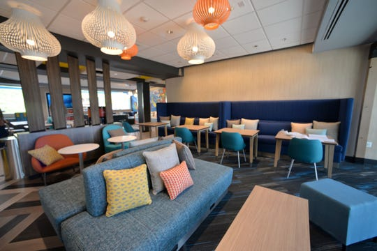 The funky, new Tru by Hilton hotel in Staunton will open Nov. 8, 2018 at Staunton Crossing. The vibrant design offers minimalist rooms with a large lounging and gathering area.