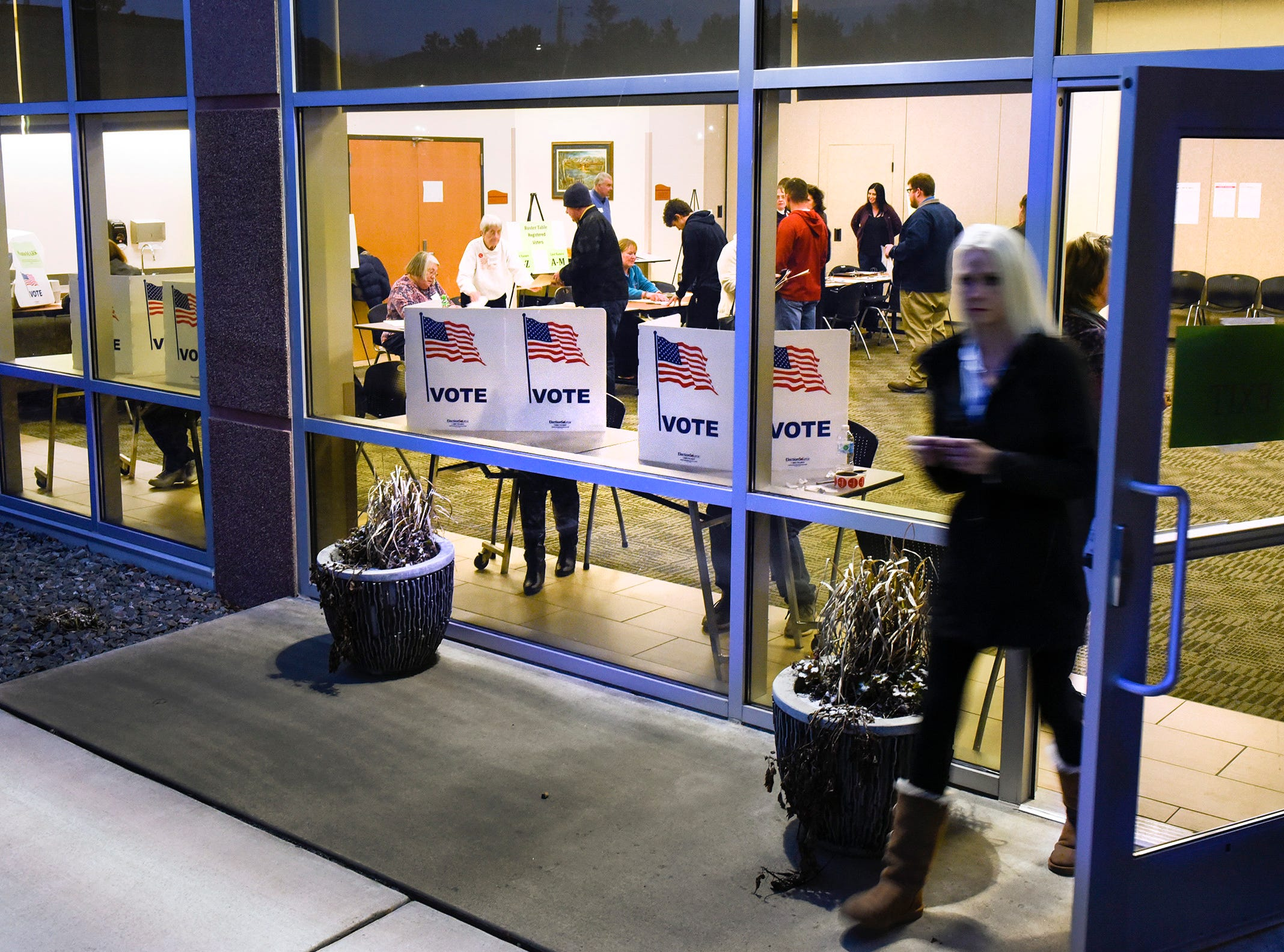Voters flow through the Sauk Rapids Government Center Tuesday, Nov. 6, to cast their ballots.