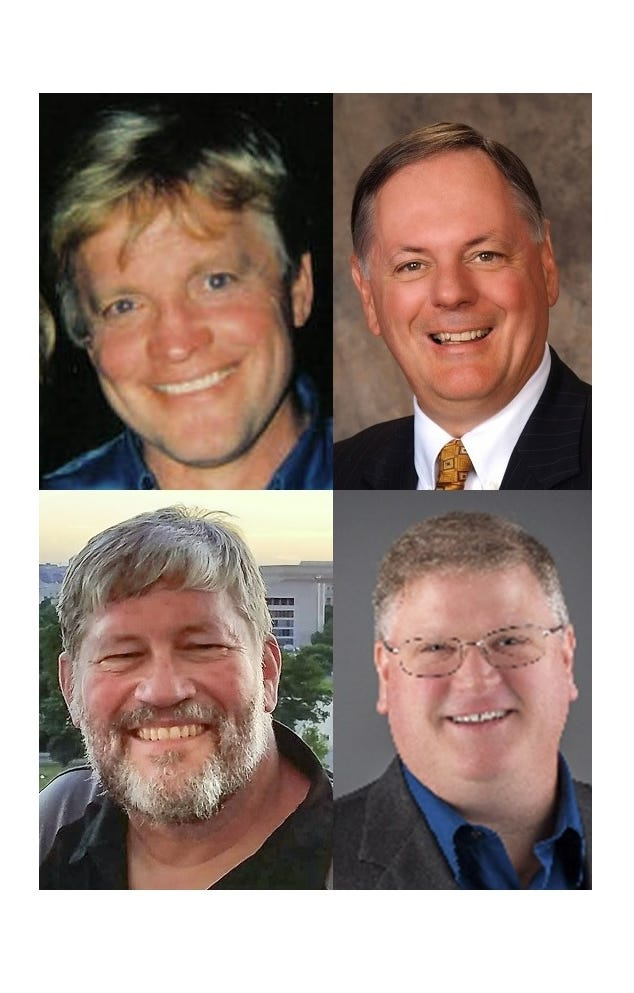 St. Cloud City Council members elected Tuesday, Nov. 6, are, from left, top, incumbent Dave Masters in Ward 1 and incumbent Steve Laraway in Ward 2; bottom row, Paul Brandmire in Ward 3 and Mike Conway in Ward 4.