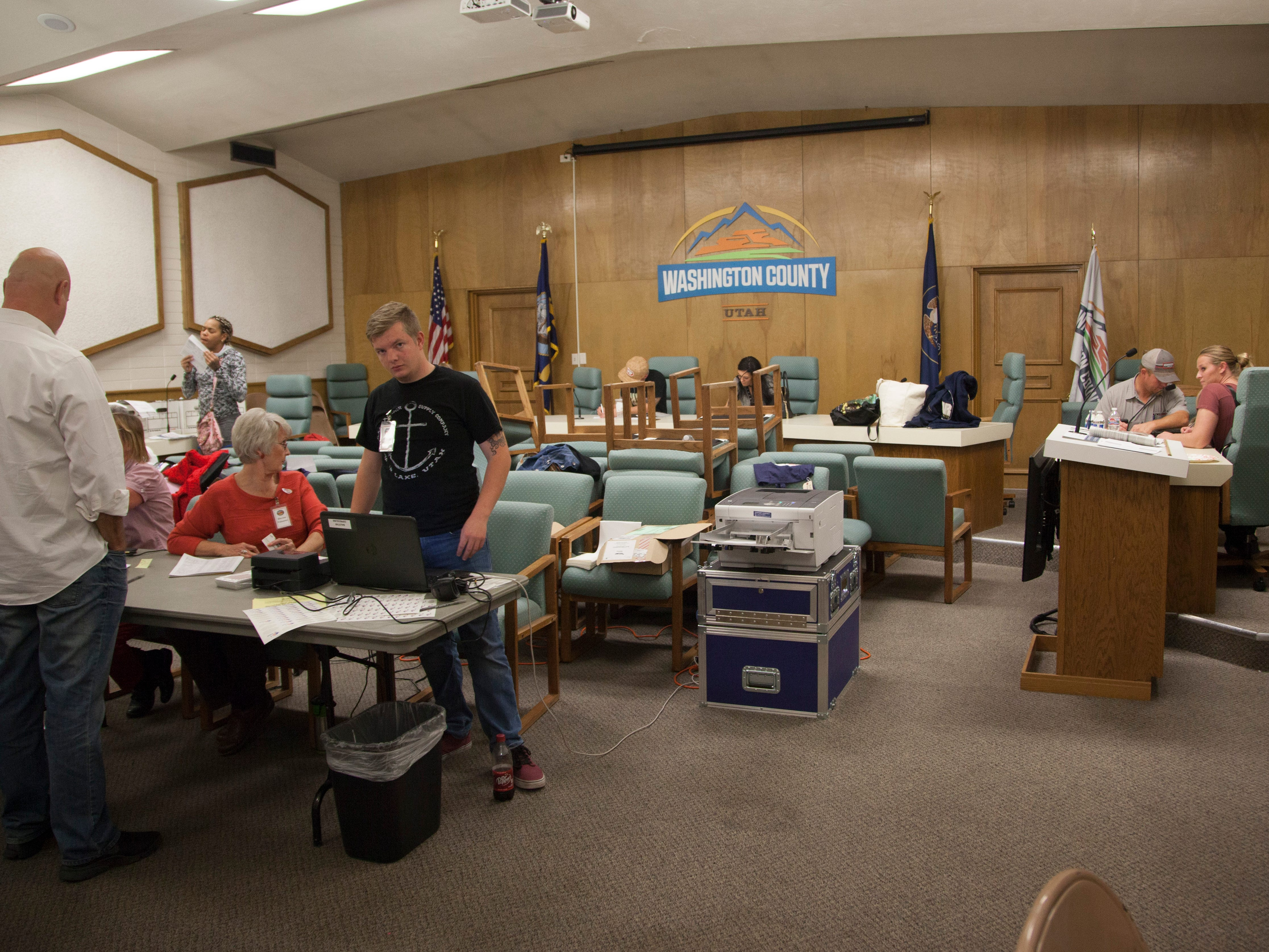 Residents vote at the Washington County Administration Building  in St. George on Election Day, Nov. 6, 2018.