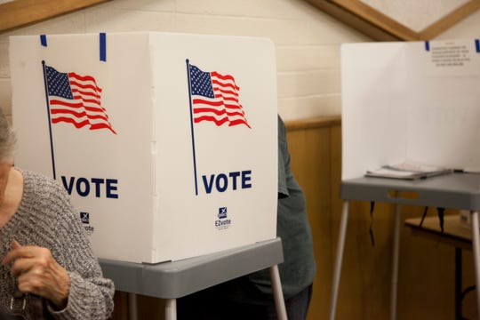 Washington County residents vote at the County Administration Building Tuesday, Nov. 6, 2018.