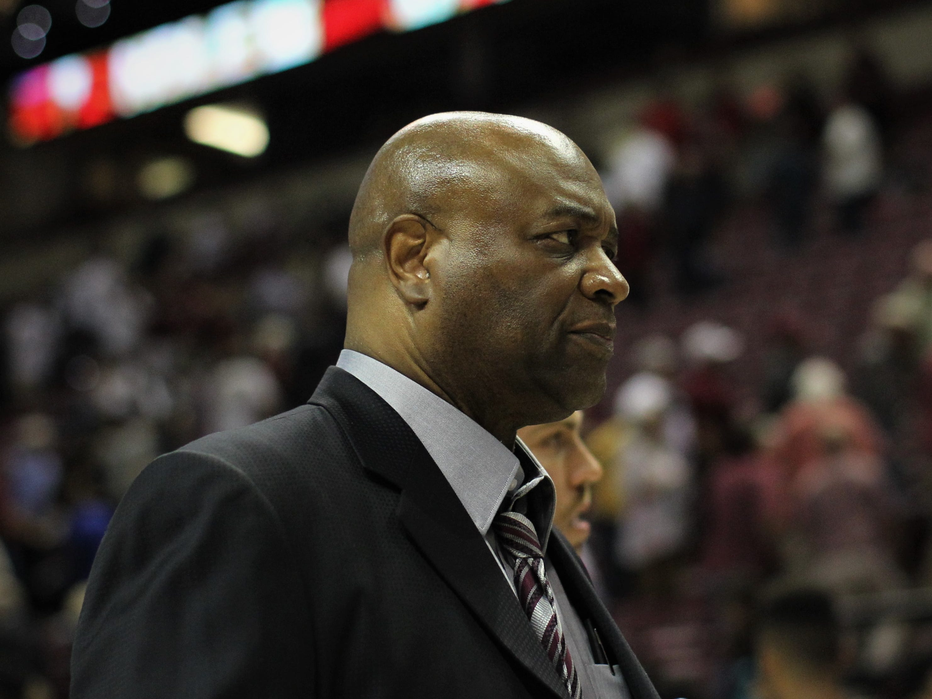 Florida State men's basketball head coach Leonard Hamilton walks off the court after a blowout win over Florida during the Sunshine Showdown game Tuesday at the Tucker Civic Center.