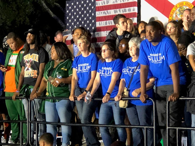 Supports rally at Andrew Gillum's election night headquarters