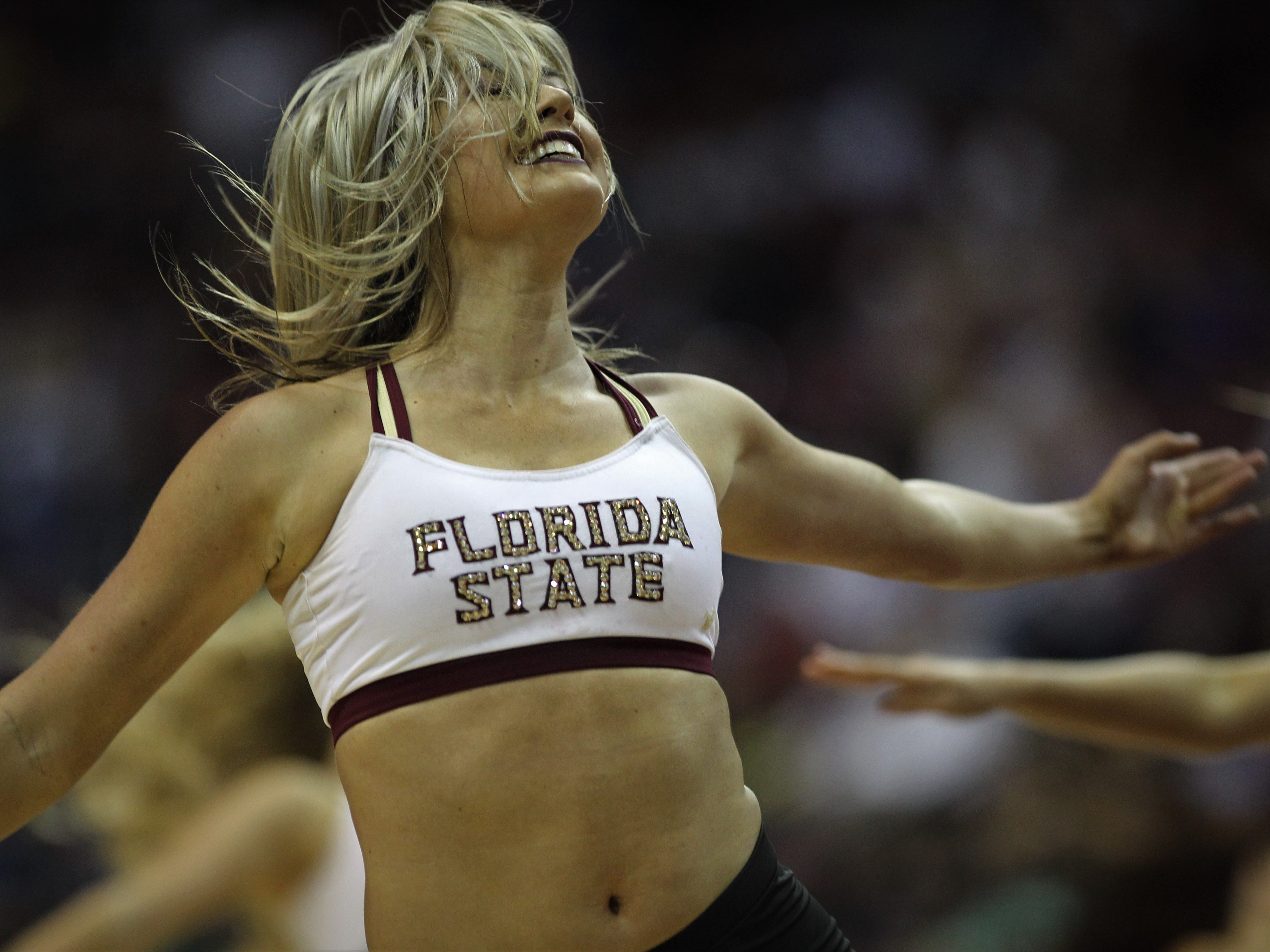 FSU's Golden Girls perform during the Sunshine Showdown game against Florida on Tuesday at the Tucker Civic Center.
