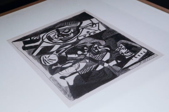 """""""Interior"""" by Pablo Picasso is part of """"500 Years of Printmaking: the FSU Collection"""" on display now in the TCC Fine Arts Gallery on the TCC campus."""