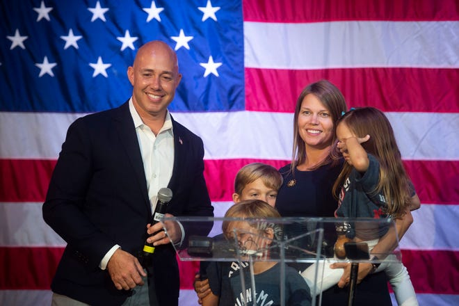U.S. Rep. Brian Mast, staff and supporters spend election night at a watch party Tuesday, Nov. 6, 2018 at Flagler Place in Stuart. Mast beat Lauren Baer in the race for the U.S. House District 18 seat.