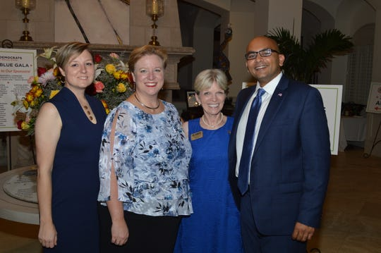 Democratic Party of Florida Chair Terrie Rizzo, second from right, greets Sanjay Patel, candidate for U.S. Congress, District 8; Nicole Haagenson, left, candidate for Florida House Seat, District 54, and Indian River Democratic County Chair Kim Lorimier.