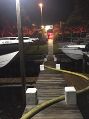Martin County Fire Rescue responded early Wednesday to reports of multiple boats on fire at a marina in Stuart.