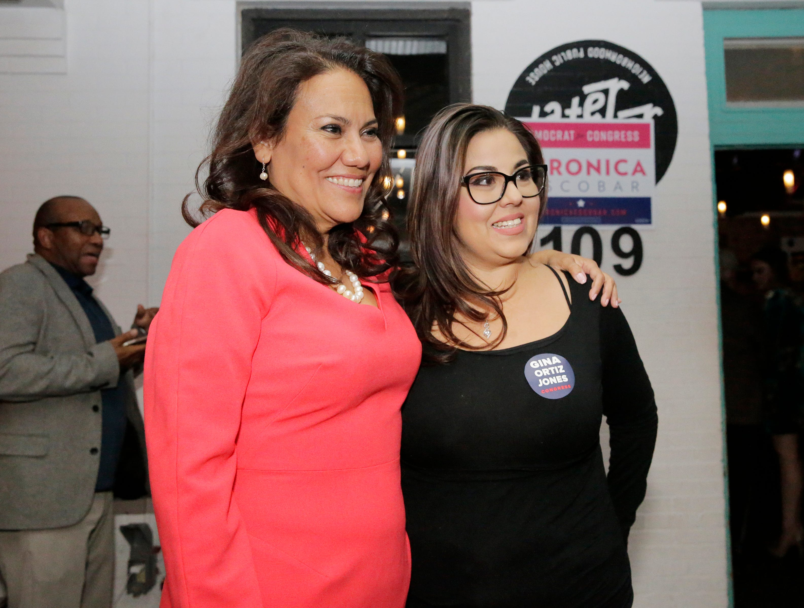 U.S. Rep.-elect Veronica Escobar celebrated with supporters at Later Later in Downtown El Paso. She will be one of the first Latinas from Texas in Congress.