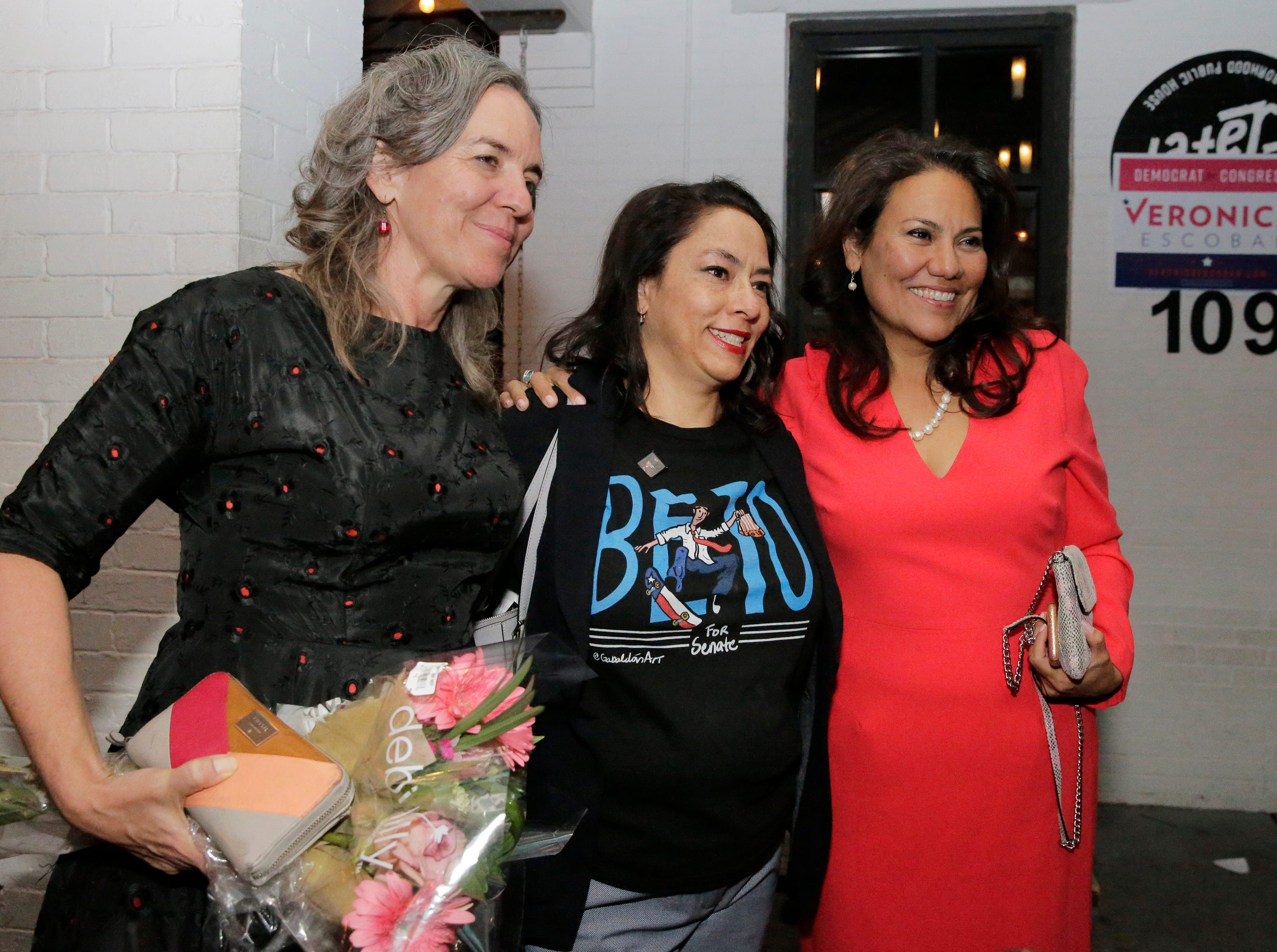 U.S. Rep.-elect Veronica Escobar and Susie Byrd celebrated with supporters at Later Later in Downtown El Paso. She will be one of the first Latinas from Texas in Congress.