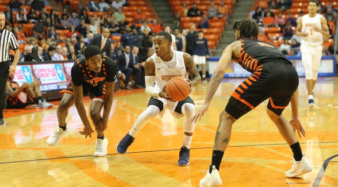 UTEP sophomore guard led the Miners with 24 points in its opening win. Gilyard and the Miners will face NMSU Friday night in Las Cruces.