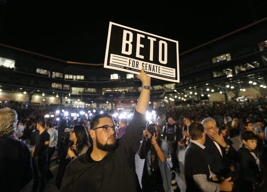Texas Senate candidate Beto O'Rourke took the stage a little after 10pm Tuesday along side his wife Amy Sanders O'Rouke and conceded the race to incumbent Ted Cruz. A sad but still energized crowd cheered on O'Rourke as he gave a passionate speech to the packed-to-the-gills Southwest Univeristy Park.