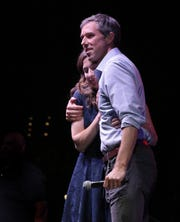 Texas Senate candidate Beto O'Rourke took the stage a little after 10 on election night alongside his wife, Amy Sanders O'Rourke, and conceded the race to incumbent U.S. Sen. Ted Cruz. A sad but still energized crowd cheered on O'Rourke as he gave a passionate speech to the packed Southwest University Park.