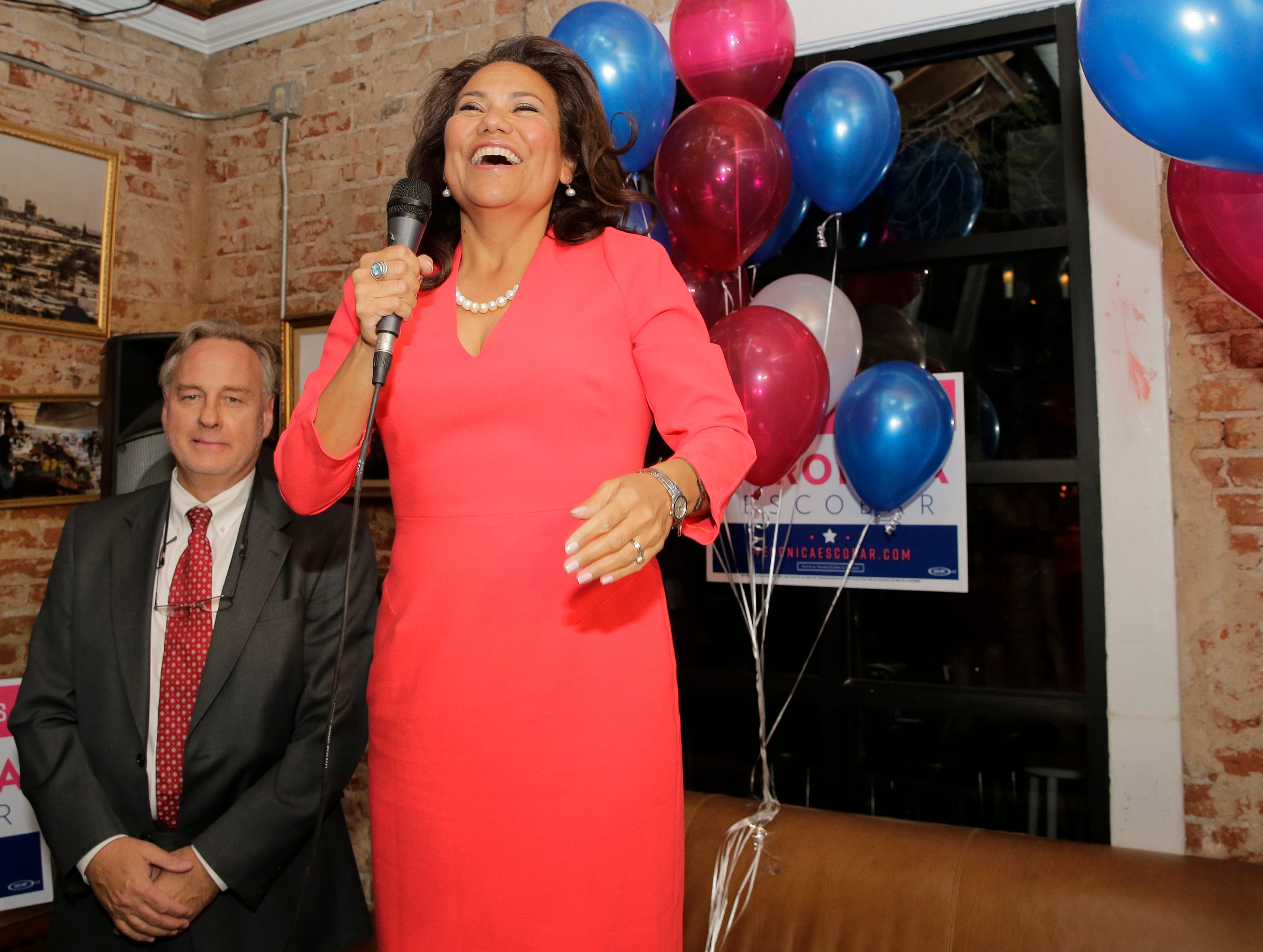 Veronica Escobar addressed supporters at her campaign party held at Later Later in downtown El Paso after having watched results come in at her central El Paso home with her family. Election results that confirmed that voters would make her among the first Latinas from the State of Texas in Congress.
