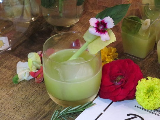 Eastern Medicine, a cocktail made by David Castro and Leah Eubanks Baker of Ojai Deer Lodge, won People's Choice voting at Libation Creation. The mixology contest was presented as a fundraiser for Sunflower Bridge and the Nordhoff Parent Association.