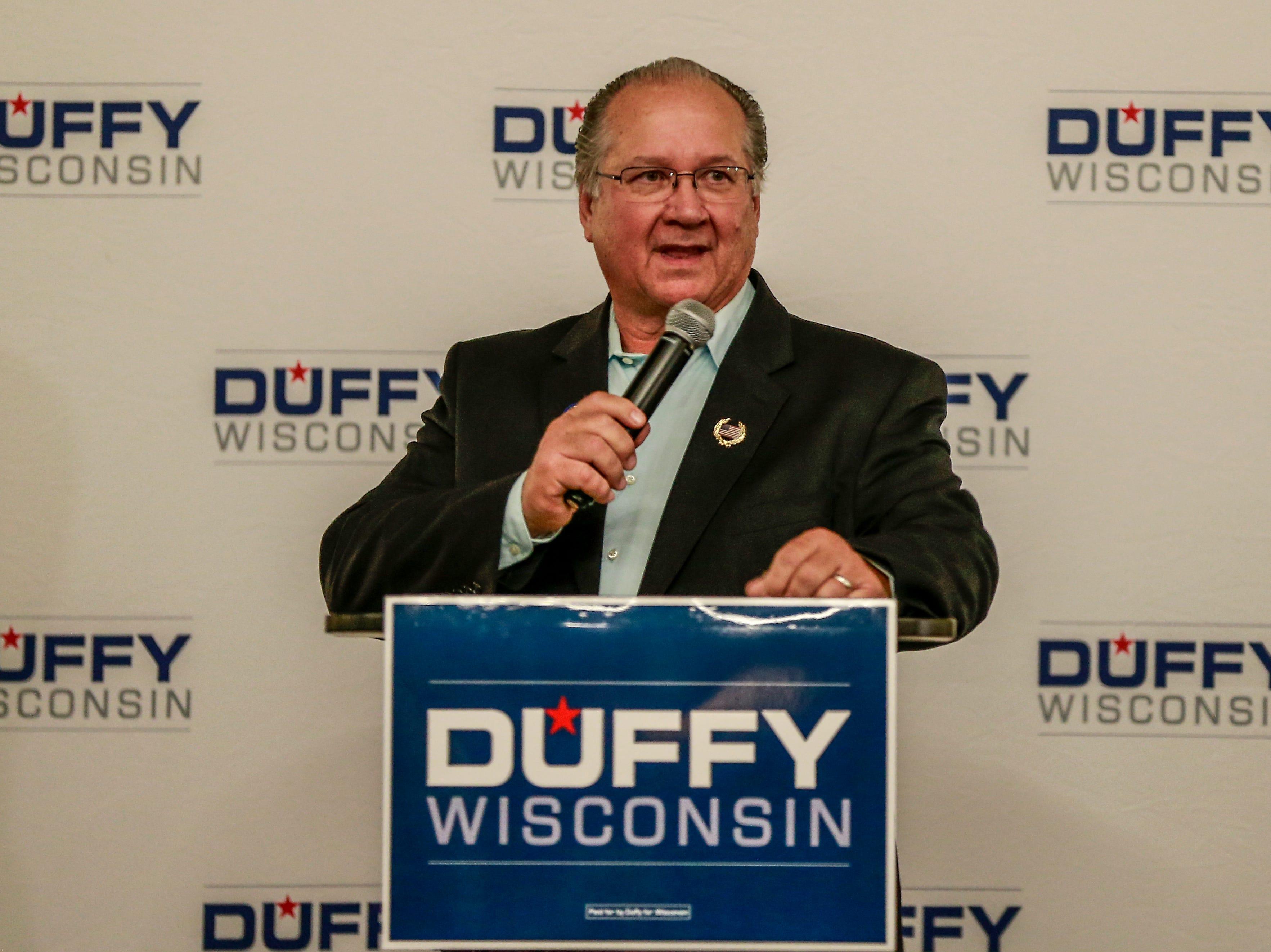Republican Sen. Jerry Petrowski makes a speech Tuesday, Nov. 7, 2018, at Hilton Garden Inn in Wausau, Wis. T'xer Zhon Kha/USA TODAY NETWORK-Wisconsin