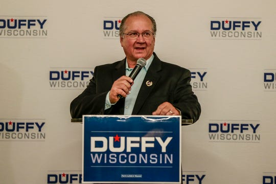 Republican Sen. Jerry Petrowski makes a speech Tuesday, Nov. 7, 2018, at Hilton Garden Inn in Wausau, Wis. T'xer Zhon Kha/USA TODAY NETWORK-Wisconsin
