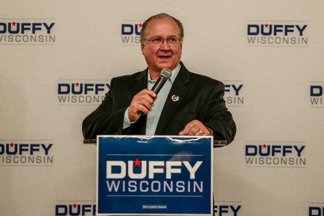 Republican Sen. Jerry Petrowski, shown here giving a speech in support of U.S. Rep. Sean Duffy on election night in 2018, is considering running for Duffy's 7th District Congressional seat this fall. T'xer Zhon Kha/USA TODAY NETWORK-Wisconsin