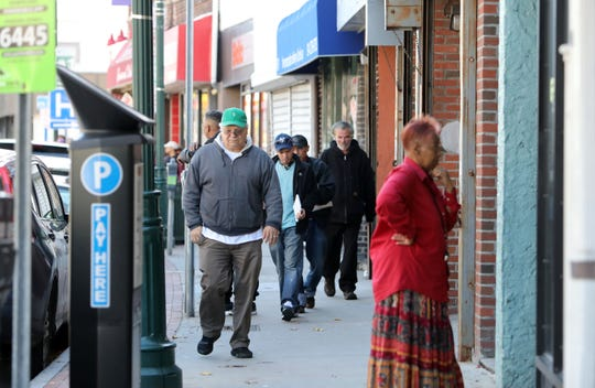 Pedestrians on North Avenue near Lockwood Avenue in New Rochelle Nov. 7, 1018. The city just received a $10 million grant to revitalize what they call the Lincoln Avenue corridor, which runs between Webster and North avenues with Lincoln as its northern border, to the downtown.