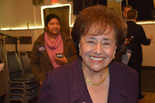 US Rep. Nita Lowey, D-Harrison, at the Nov.  4 rally at the American Legion hall in Mount Kisco.