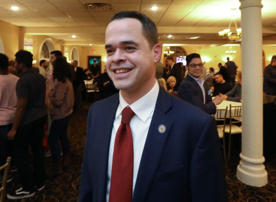 State Sen. David Carlucci waits for election results at Casa Mia in Blauvelt Nov. 6, 2018.