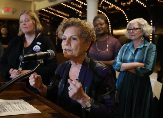 Assemblywoman Ellen Jaffee makes her victory speech at Casa Mia in Blauvelt Nov. 6, 2018.