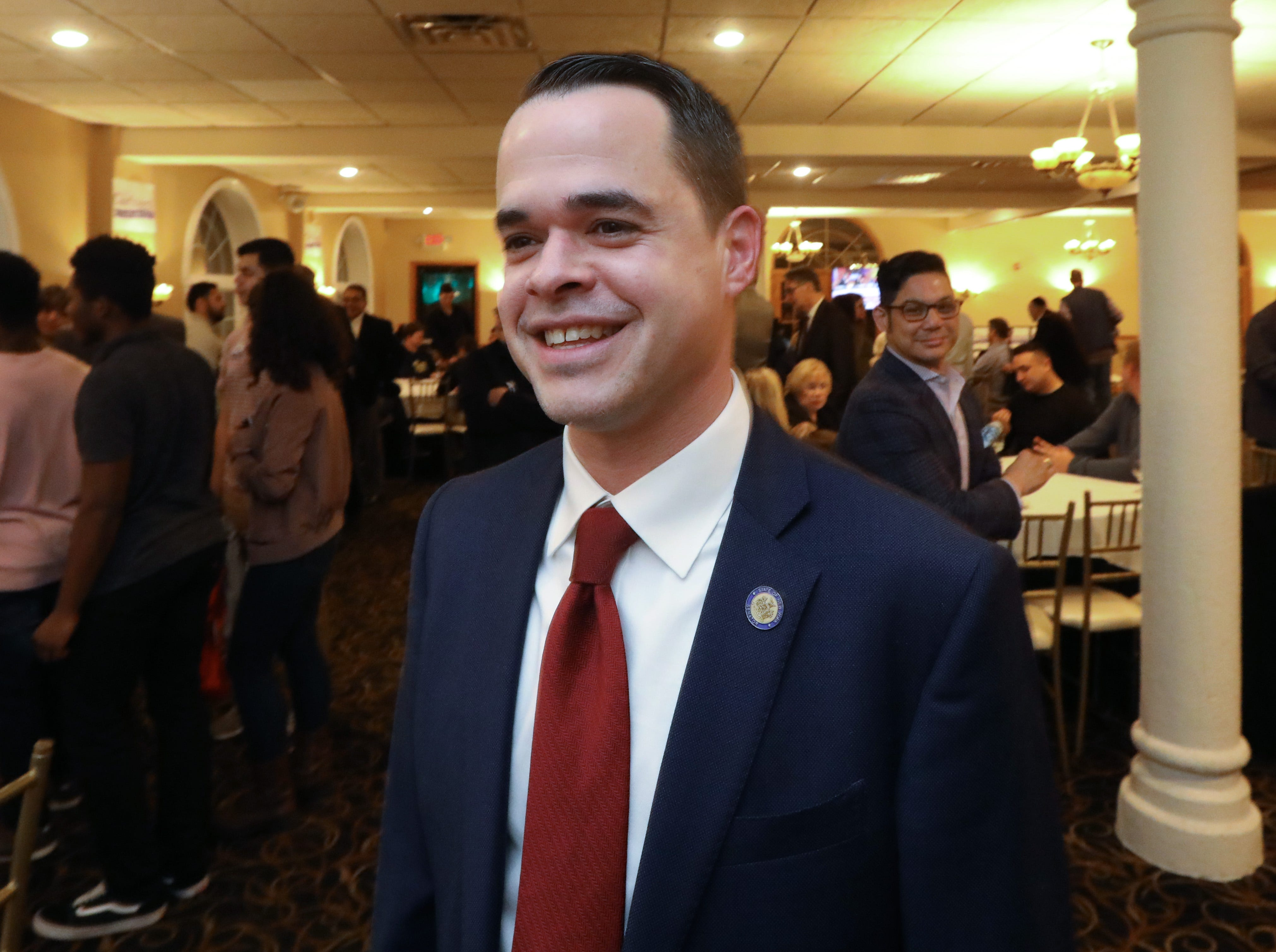 State Senator David Carlucci waits for election results at Casa Mia in Blauvelt Nov. 6, 2018.