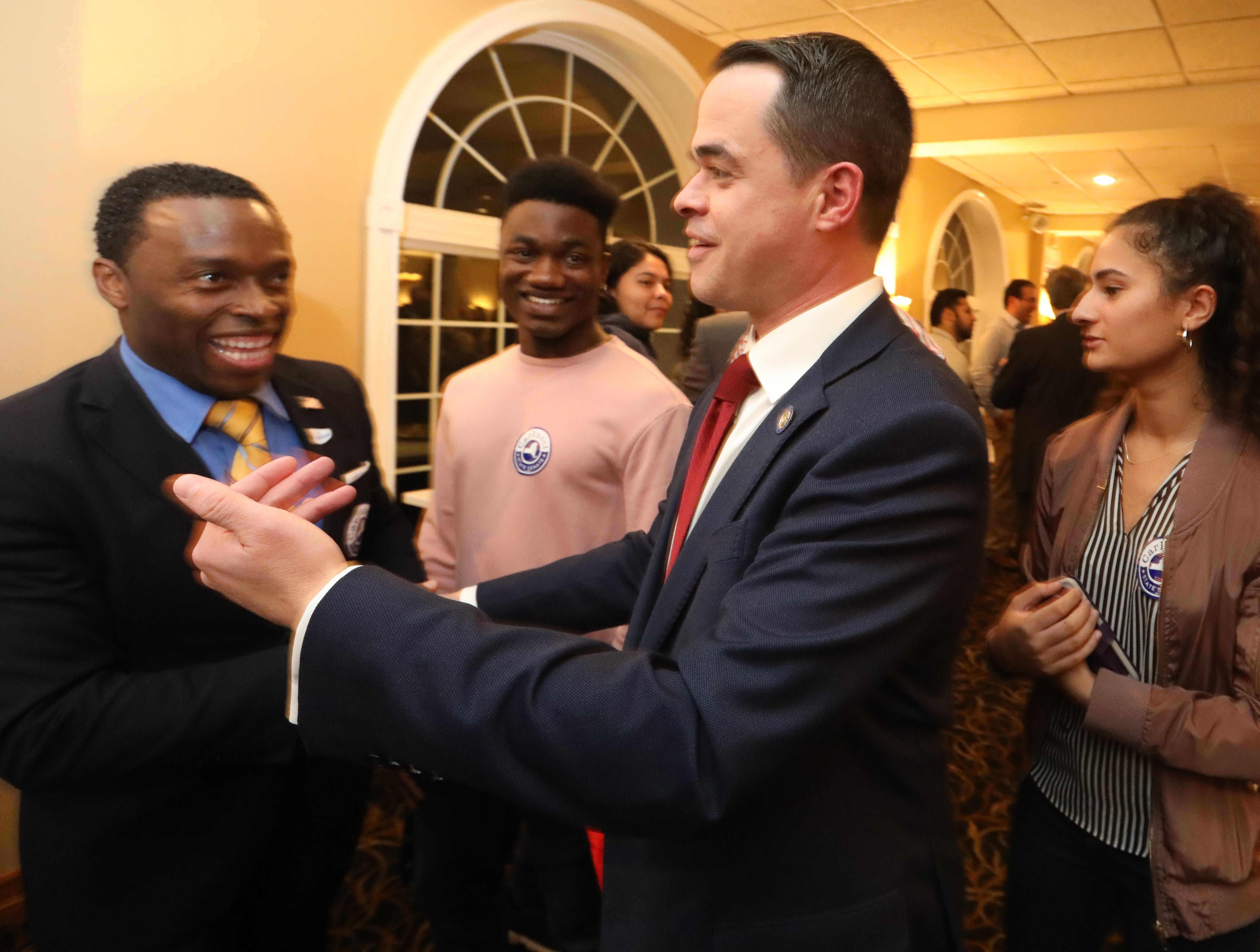 Rockland County Democrats meet on election night at Casa Mia in Blauvelt Nov. 6, 2018.