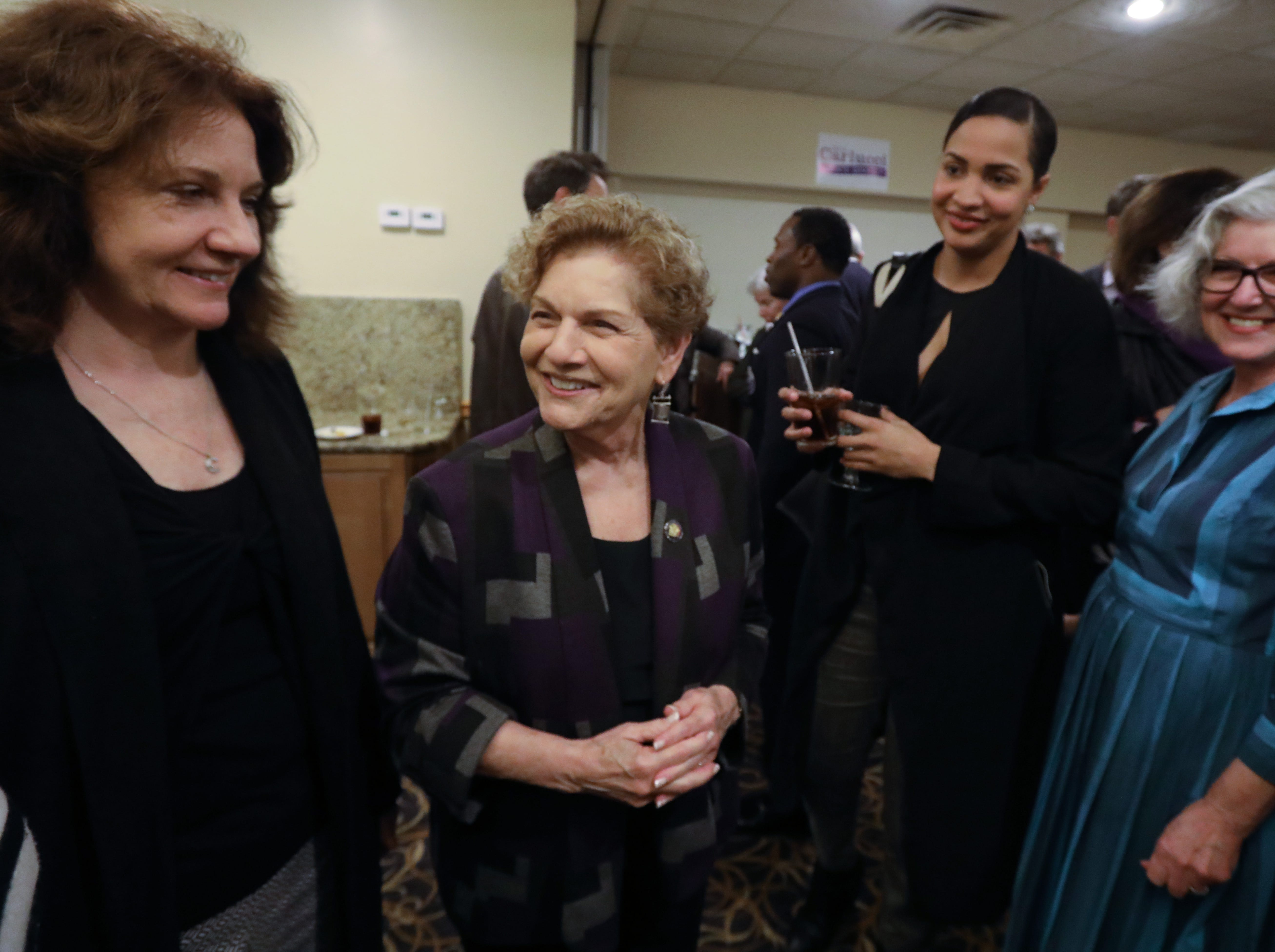 Assemblywoman Ellen Jaffee waits for election results with her staff at Casa Mia in Blauvelt Nov. 6, 2018.