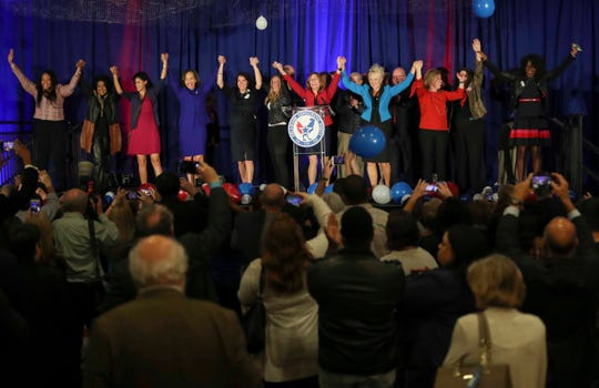 Delaware Democrats celebrate an election in which they took control of all statewide offices and expanded their majority in the General Assembly.