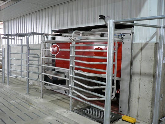 Robots are located in the milking center with easy in and out.