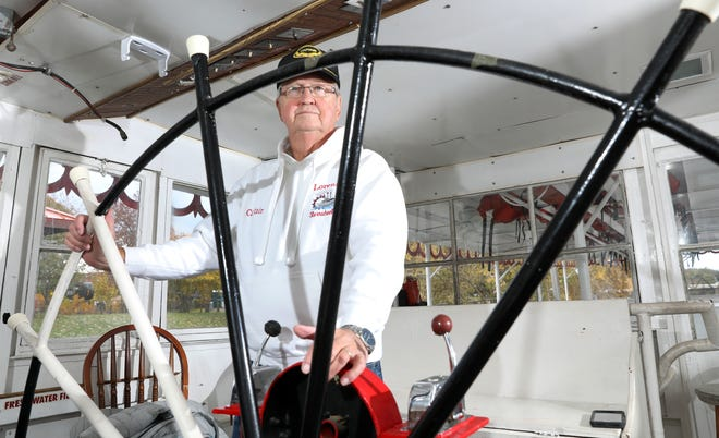 Bill Page has been piloting the Lorena sternwheeler on the Muskingum River for 15 years. He became captain of the 100-ton vessel after returning to the area from Florida.