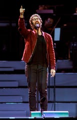 Josh Groban performs at the United Center on Tuesday, Nov. 6, 2018, in Chicago. (Photo by Rob Grabowski/Invision/AP) ORG XMIT: ILRG103