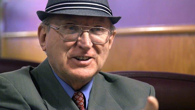 This Feb. 2, 2018 file photo from a video frame grab shows Arthur Jones, a Holocaust denier and Nazi sympathizer, who got onto November's ballot as a Republican congressional candidate when the state GOP failed to put forward another candidate in the safely Democratic district. Jones was defeated by incumbent Rep. Dan Lipinski in Tuesday's midterm election but managed to win 56,000 votes.