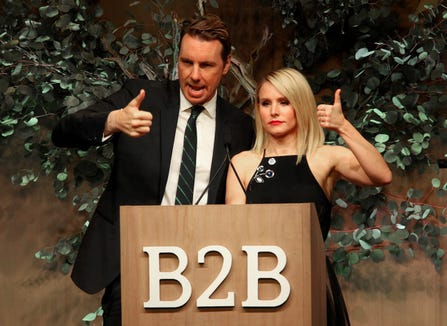 Kristen Bell gushes about her husband, Dax Shepard, in People magazine's latest issue.