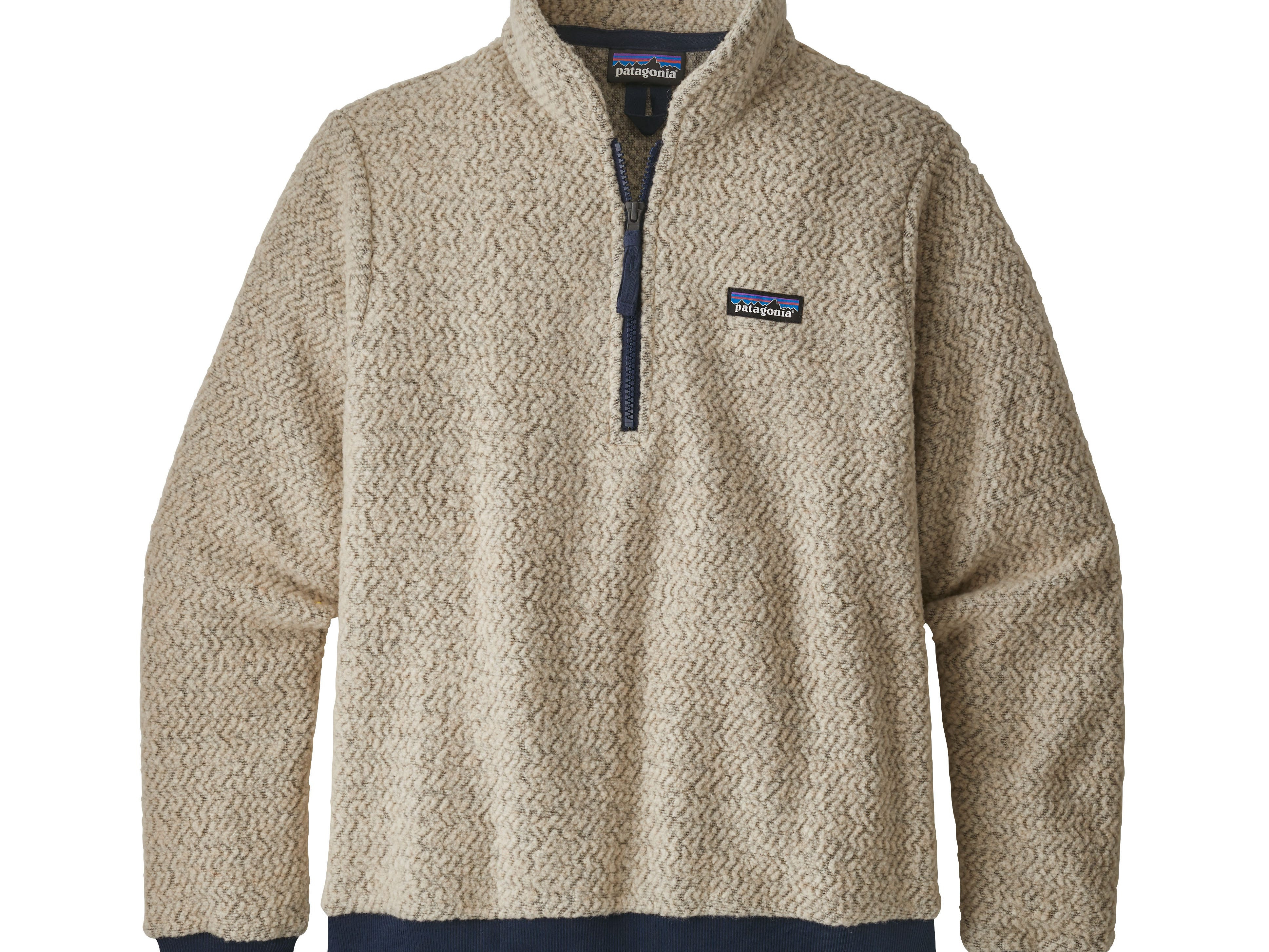 """Outdoor apparel company Patagonia long has been at the leading edge of efforts to steer the clothing industry toward more sustainable products, and it has """"cause no unneccessary harm"""" as part of its mission statement. Here, the brand's new Women's Woolyester Fleece Pullover, which is made from a recycled wool/polyester/nylon fabric blend and Fair Trade Certified sewn. Price: $139."""