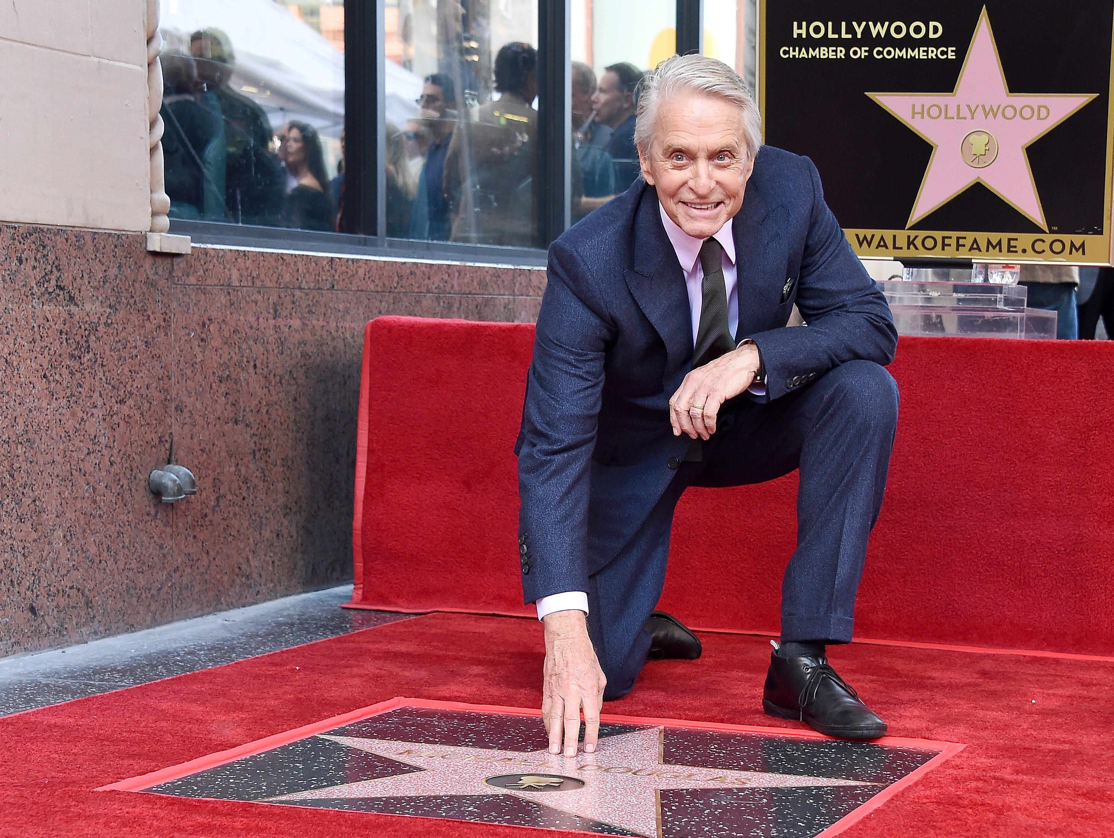 HOLLYWOOD, CA - NOVEMBER 06:  Michael Douglas Honored With a Star On The Hollywood Walk Of Fame on November 6, 2018 in Hollywood, California.  (Photo by Gregg DeGuire/Getty Images) ORG XMIT: 775248764 ORIG FILE ID: 1058286286